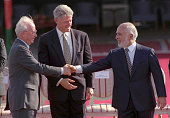 The israeljordan peace treaty being signed in 1994 us president bill picture id500838061?s=170x170