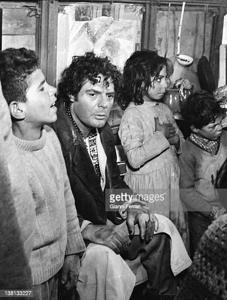The Italian actor Marcello Mastroianni during the filming of the movie 'Dramma della gelosia ' 10th January 1970 Madrid Spain
