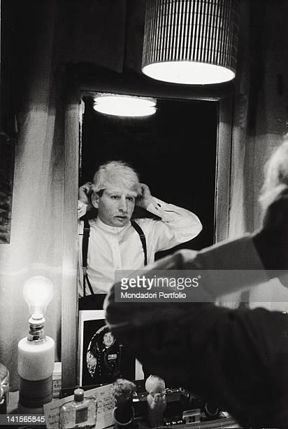 The Italian actor Renato Rascel at Teatro Lirico with the musical comedy of Garinei and Giovannini 'Enrico '61' Milan November 1961