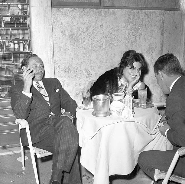 Anna Magnani and Tennessee Williams at a bar Pictures | Getty Images