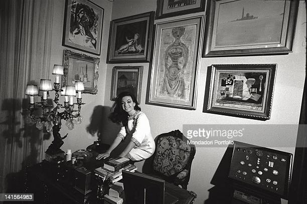 The Italian actress Bedy Moratti posing for a portrait at her home Milan May 1968