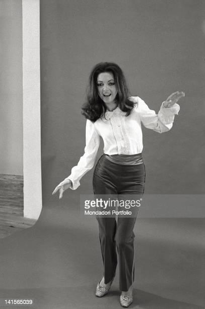 The Italian actress Bedy Moratti posing for a portrait Italy 1960s