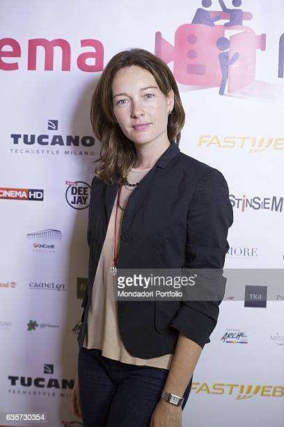 The Italian actress Cristiana Capotondi during a pressconference for the 'Fuoricinema' festival conceived by her three days of outdoor film...