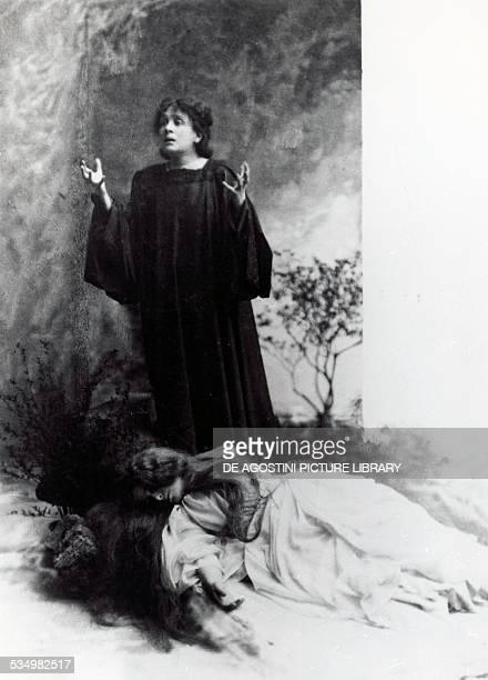 The Italian actress Eleonora Duse in The Dead City by Gabriele D'Annunzio production still 1901 20th century Gardone Riviera Museo Dannunziano Del...
