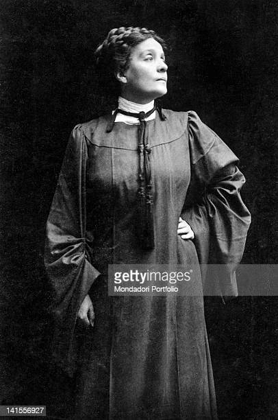 The Italian actress Eleonora Duse playing Rebecca West in 'Rosmersholm' by Henrik Ibsen Italy 1906