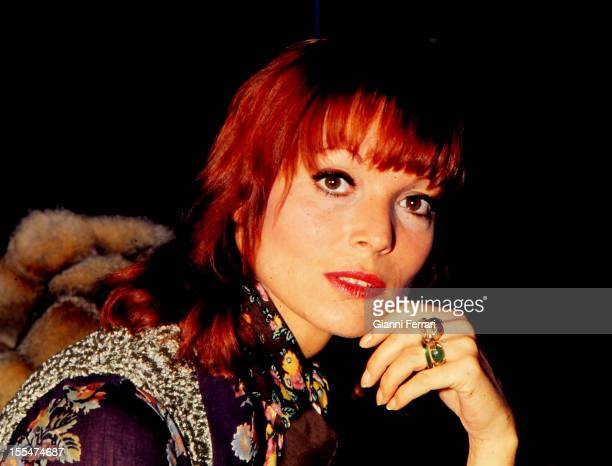 The Italian actress Elsa Martinelli in Madrid, First October 1973, Madrid, Castilla La Mancha, Spain. .