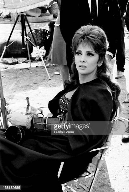 The Italian actress Gina Lollobrigida during the filming of the movie 'Cervantes' Madrid Spain