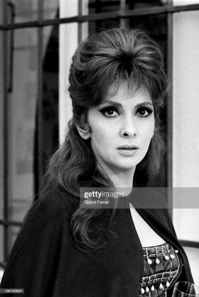 The Italian actress Gina Lollobrigida during the filming of the movie 'Cervantes', 1969, Madrid, Spain.