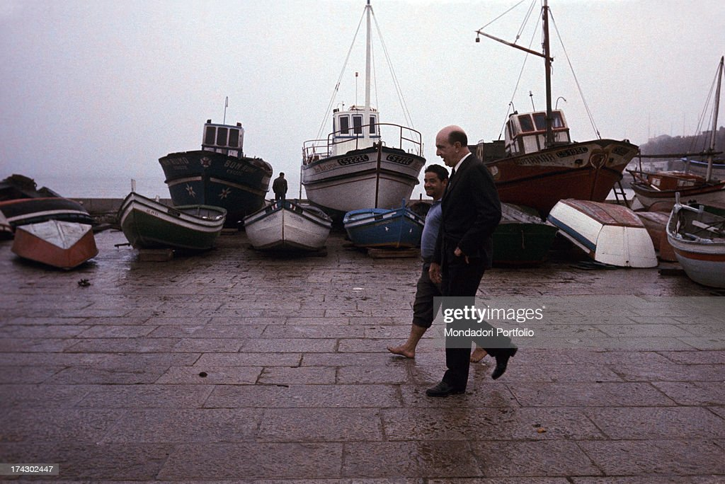 Umberto Ii Walks On A Pier : News Photo
