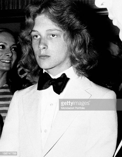 The Italian actress Rossella Falk and the Swedish actor Bjorn Andresen during the Cannes International Film Festival. Cannes, 1971