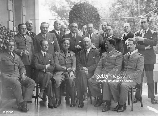 The Italian Air Marshall and statesman Italo Balbo in Rome