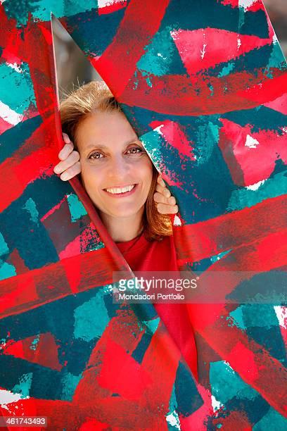The italian art critic Martina Corgnati smiles posing Torino 15th march 2012