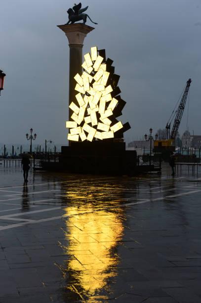 ITA: Italian Artist Fabrizio Plessi Christmas Installation Inauguration