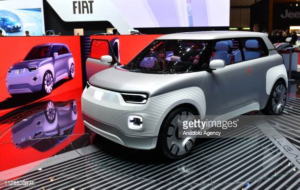 The Italian automaker Fiat unveils 'Centoventi' electric concept car during the second press day of the 89th Geneva International Motor Show in...