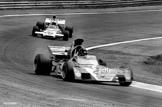 The Italian car driver Andrea De Adamich with a 'Surtees' on the circuit of 'Jarama' 15th May 1972 Madrid Spain