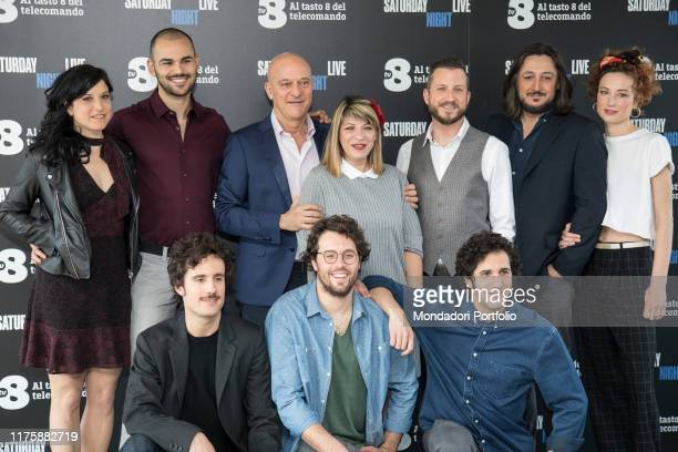 The italian cast of Saturday Night Live tv show attends the photocall. Milano, April 6th 2018