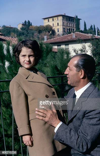 The Italian champion Gino Bartali together with his daughter Biba