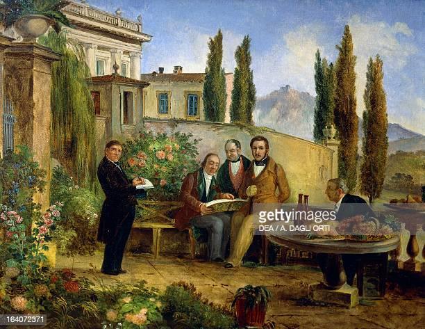 The Italian composer Gaetano Donizetti with Antonio Dolci and other friends in Bergamo Italy Bergamo Civico Museo Donizettiano