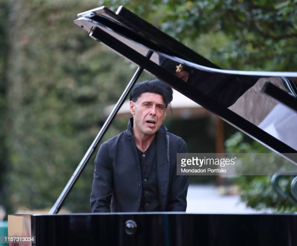 The Italian conductor and composer Ezio Bosso during the Ceremony for the awarding of the 2019 Golden Globe Film Prize awarded by the Foreign Press...