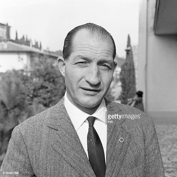 The Italian cycle champion Gino Bartali during a reportage for the program The wings of the exploit