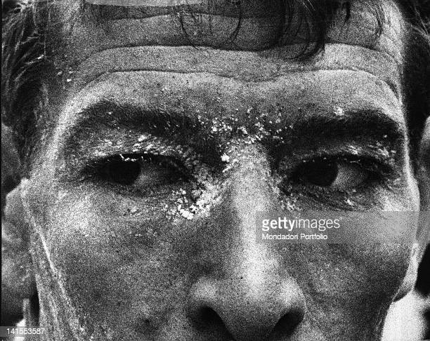 The Italian cyclist Felice Gimondi has just finished the 19th stage of the Giro d'Italia Cortina 8th June 1967