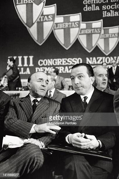 The Italian defense minister Giulio Andreotti taking part to the Christian Democracy congress Naples January 1962