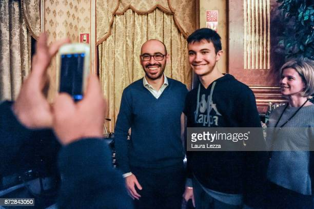 The Italian digital entrepreneur founder of Aranzullait web site and spreader of IT concepts Salvatore Aranzulla take a photo with course...
