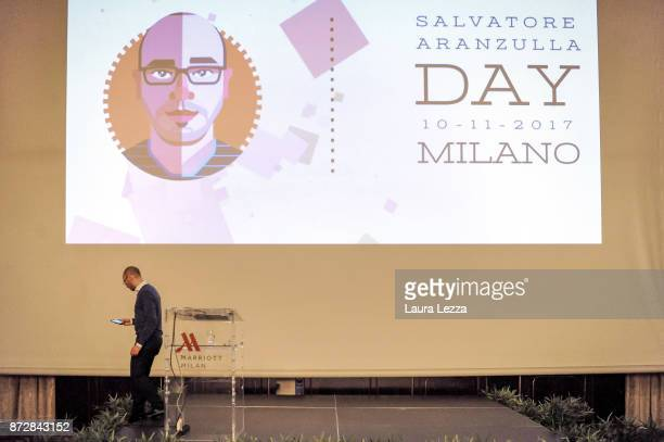 The Italian digital entrepreneur founder of Aranzullait web site and spreader of IT concepts Salvatore Aranzulla holds his lecture during the first...