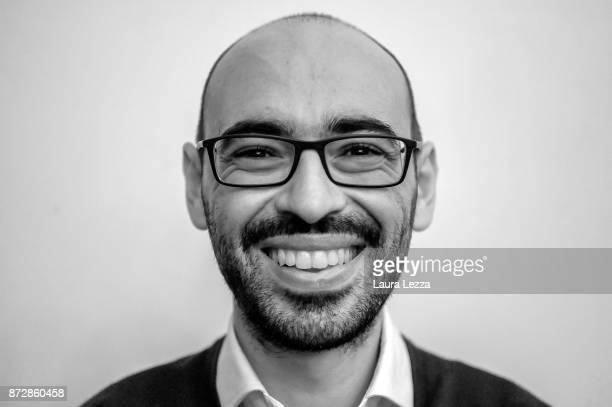 The Italian digital entrepreneur founder of Aranzullait web site and spreader of IT concepts Salvatore Aranzulla poses for a photo just after holding...