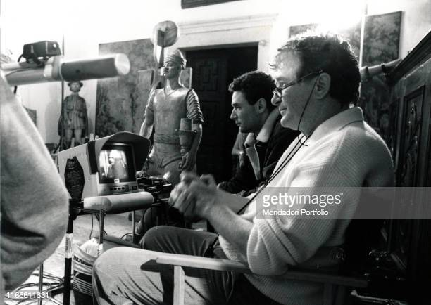 The Italian director Ermanno Olmi on the set of the film Long Live the Lady! Italy, 1987