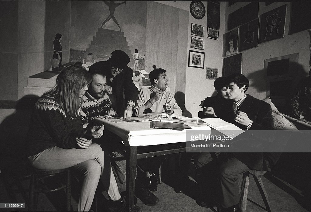 Melchiorre Gerbino With The Editorial Staff : News Photo