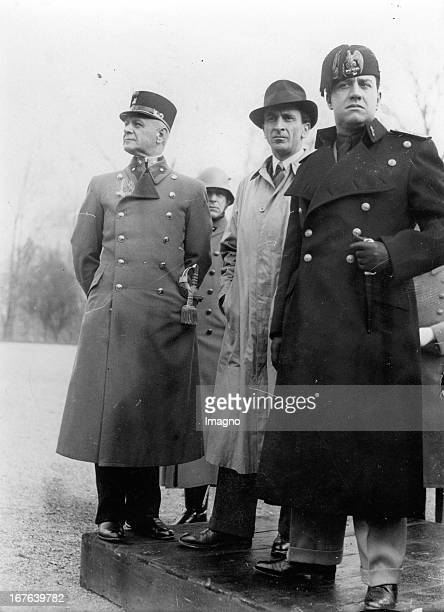 The Italian foreign minister Count Galeazzo Ciaono at his official stay in Austria On the visit of the military academie in Wiener Neustadt with...