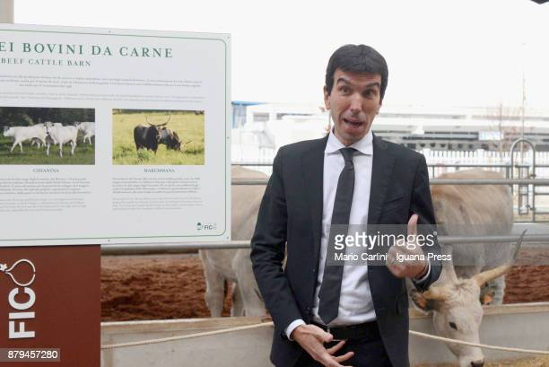 The italian Minister for agricolture Maurizio Martina attends the FICO Eataly World Agri Food park Opening Day ceremony on November 15 2017 in...