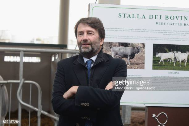 The italian Minister for culture Dario Franceschini attends the FICO Eataly World Agri Food park Opening Day ceremony on November 15 2017 in Bologna...