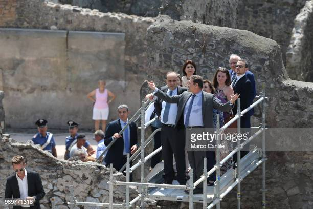 The Italian Minister of Cultural Heritage Alberto Bonisoli accompanied by superintendent Massimo Osanna in one of the new excavations that are part...