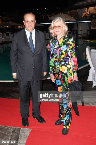 the Italian Minister of Cultural Heritage and Activities and Tourism Alberto Bonisoli and Marina Cicogna attend the 2018 Ischia Global Film Music...