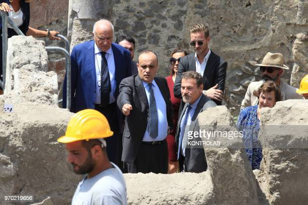 SCAVI POMPEI CAMPANIA ITALY The Italian Minister of Culture Alberto Bonisoli with director Massimo Osanna visits The work site of new excavations in...