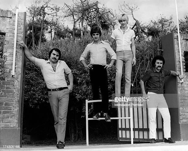 from left Paolo de Ceglie Antonio Cripezzi known as Tonino Gerardo Manzoli known as Gerry Livio Macchia Gabriele Lorenzi has left the group now the...