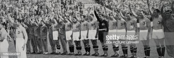 The Italian national football team winner of the 1934 World Championship, Rome, Italy, 20th century.