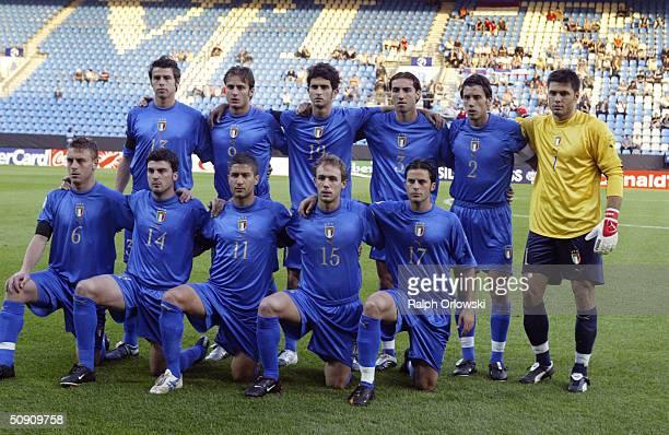 The Italian national soccer team Andrea Barzagli Alberto Gilardino Simone del Nero Emiliano Moretti Cristian Zaccardo and Marco Amelia Daniele de...