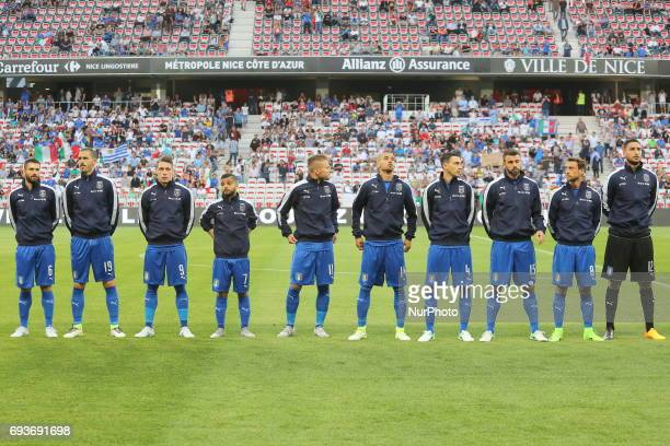 The Italian National Team before the international friendly between Italy and Uruguay at Allianz Riviera stadium on June 7 2017 in Nice France Italy...