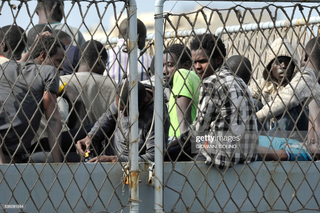 ITALY-IMMIGRATION-REFUGEE-RESCUE-SEA : News Photo