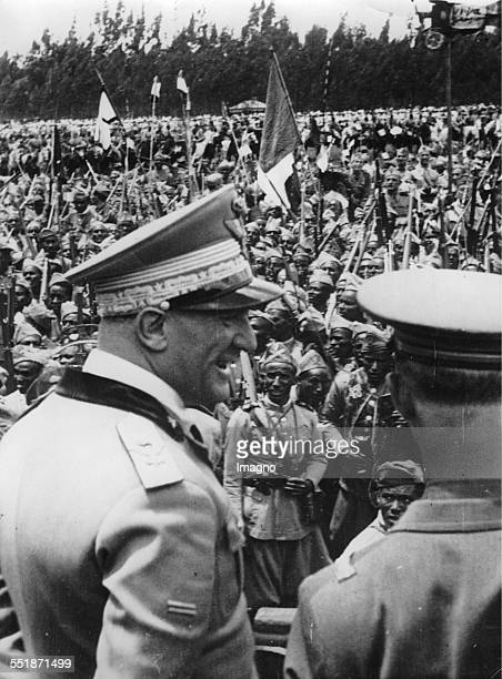The Italian officer and viceroy of Ethiopia Rodolfo Graziani in Addis Ababa November 1936 Photograph