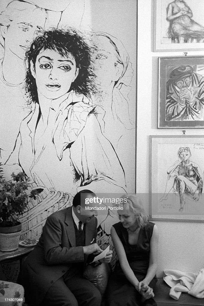 the italian painter anna salvatore the italian director pasquale