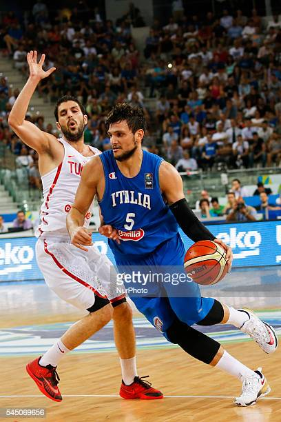 The italian point guard Alessandro Gentile during match between Italy and Tunisia at 2016 FIBA Olympic Qualifying Tournament in Turin Italy on 4 July...
