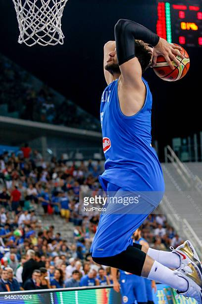 The italian point guard Alessandro Gentile during the game between Italy and Tunisia at 2016 FIBA Olympic Qualifying Tournament in Turin Italy on 4...
