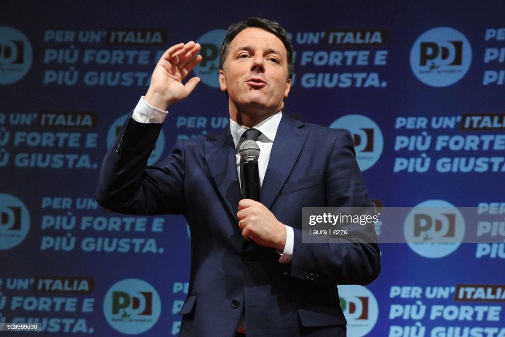 Matteo Renzi Holds Political Rally
