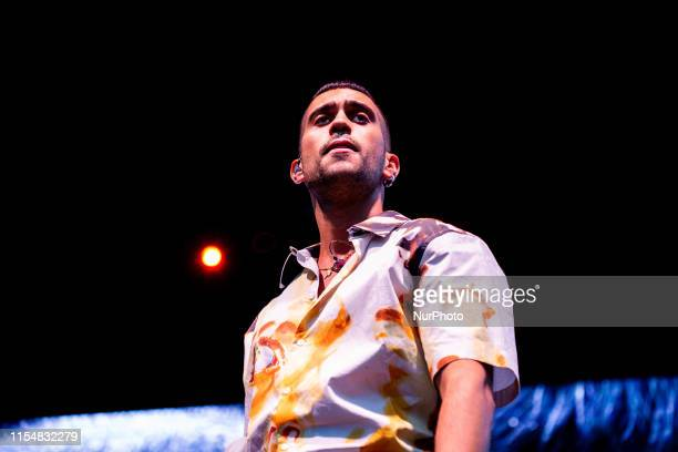 The italian pop rap singer and songwriter Mahmood performing live at Collisioni Festival 2019 in Barolo , Italy, on July 8, 2019.