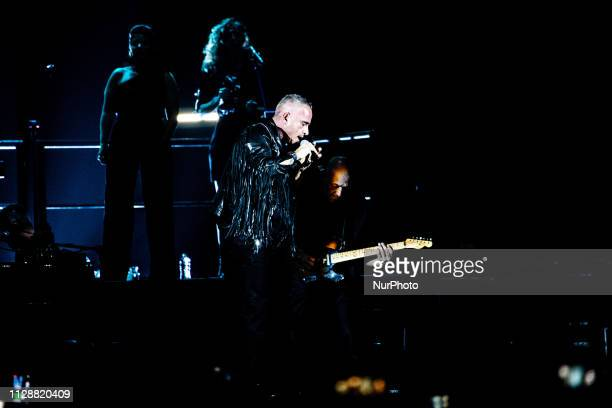 The italian pop singer and songwriter Eros Ramazzotti performing live at Mediolanum Forum in Assago on March 5 2019