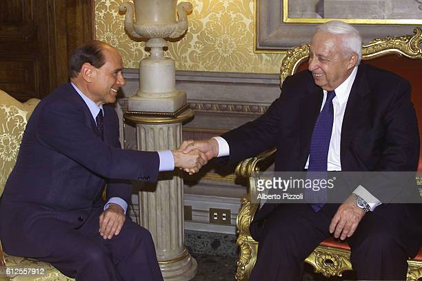 The Italian Prime Minister and the Israeli Prime Minister meet in Rome. Ariel Sharon is on an official 2 day visit in Italy.